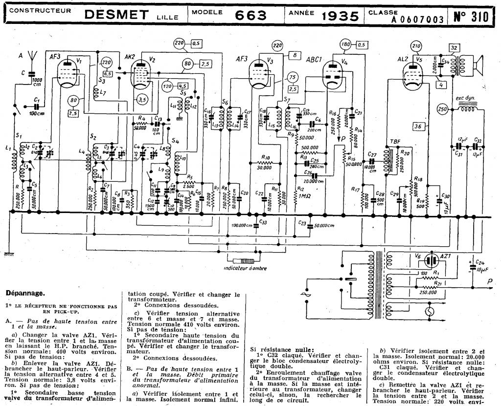 Desmet 663 (1935) schémas