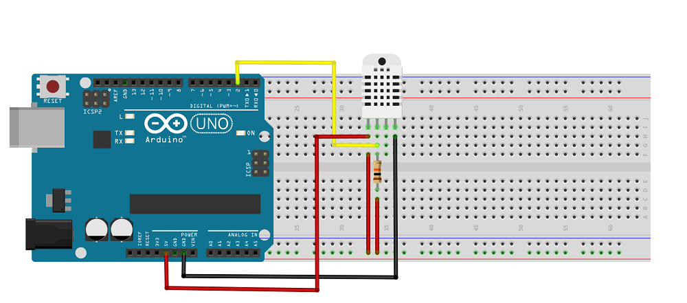 Câblage DHT22 Arduino