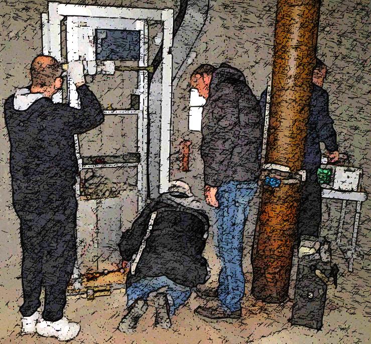 Installation du relais de Linas