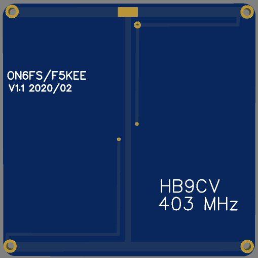 PCB antenne HB9CV Pliante par ON6FS