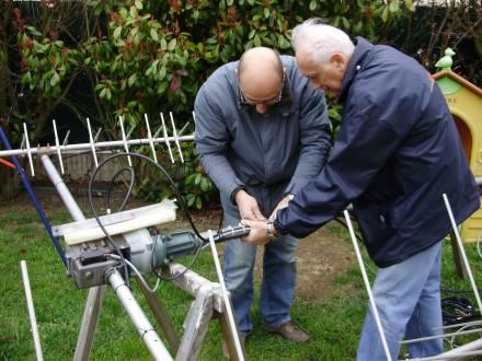 ARISS 2009 : le moteur d'antenne