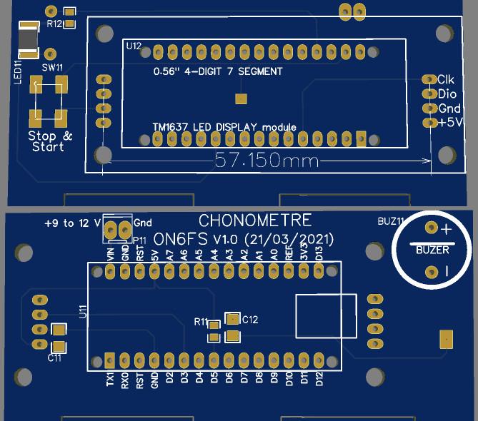 PCB-Chronomètre