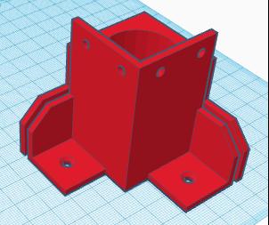 Pied arrière du caisson 3D