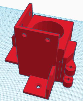 Pied Avant Droit du caisson 3D