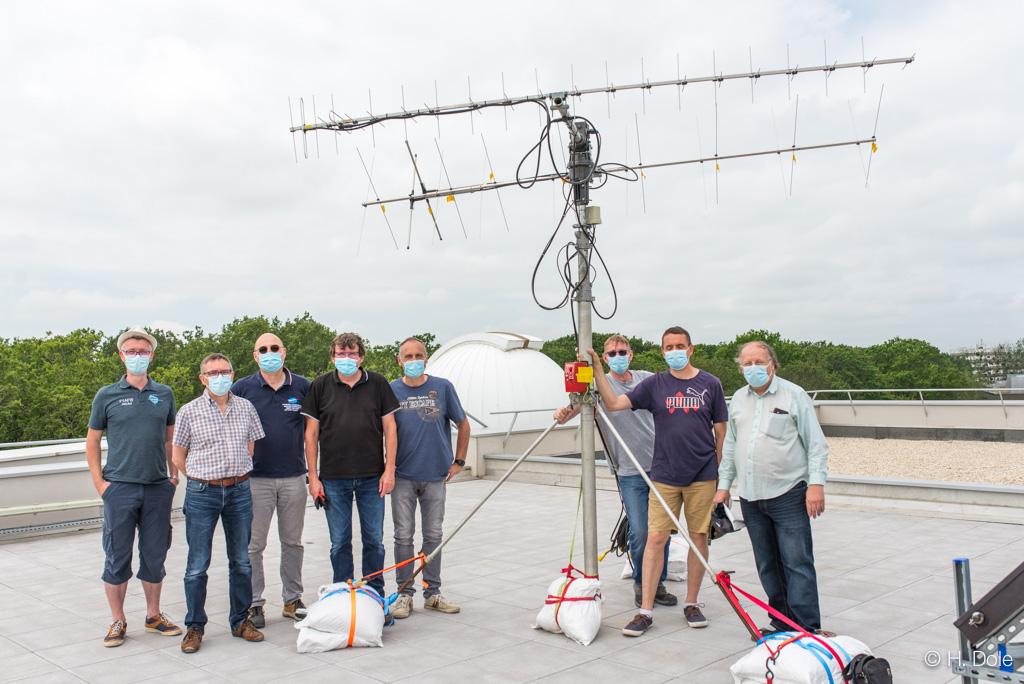 Tracking sur le toit de HBar (Université de Paris-Saclay)